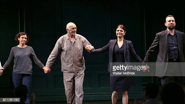 Hannah Cabell Frank Langella Kathryn Erbe and Brian Avers during the Opening Night Curtain Call bows for 'The Father' at The Samuel J Friedman...