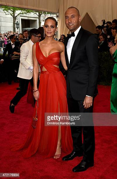 Hannah Davis and Derek Jeter attend the 'China Through The Looking Glass' Costume Institute Benefit Gala at the Metropolitan Museum of Art on May 4...