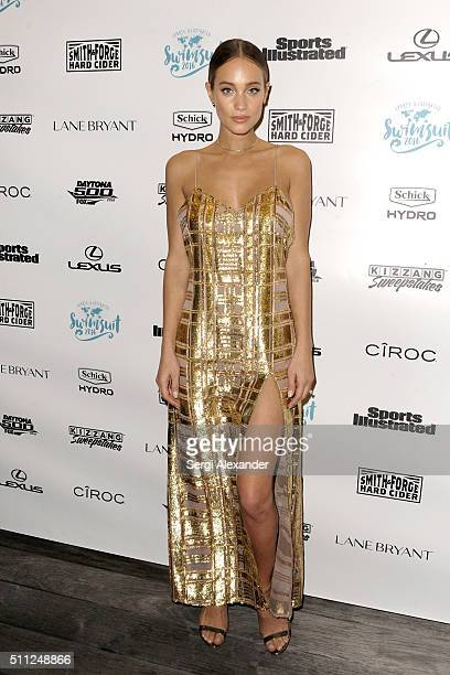 Hannah Davis attends A Night at Sea VIP Boat Cruise sponsored by Sports Illustrated Swimsuit 2016 Yacht Cruise on February 18 2016 in Miami City