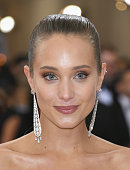 Hannah Davis attends the 'Manus x Machina Fashion In An Age Of Technology' Costume Institute Gala at Metropolitan Museum of Art on May 2 2016 in New...