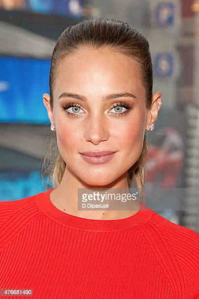 Hannah Davis visits 'Extra' at their New York Studios at HM in Times Square on June 11 2015 in New York City