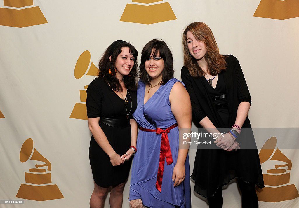 Hannah Erickson, Holly Hartman and Renee DeAngelo attend the 55th Annual GRAMMY Awards Telecast Party at Hard Rock Cafe on February 10, 2013 in Chicago, Illinois.