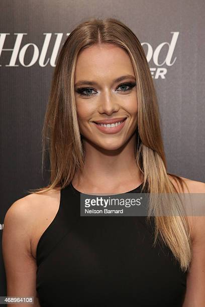 Hannah Ferguson attends 'The 35 Most Powerful People In Media' celebrated by The Hollywoood Reporter at Four Seasons Restaurant on April 8 2015 in...