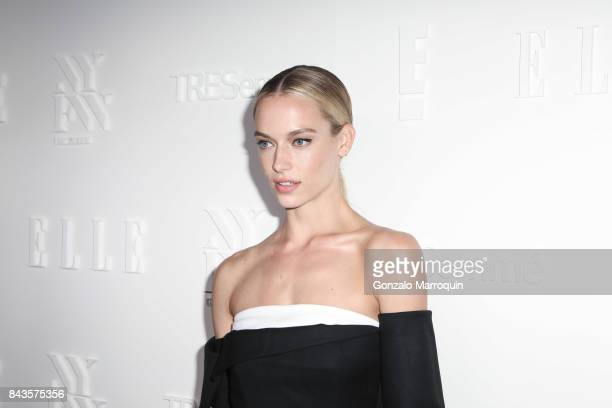 Hannah Ferguson attends the ELLE E IMG Host A Celebration of Personal Style NYFW Kickoff Party at 5 Doyers St on September 6 2017 in New York City