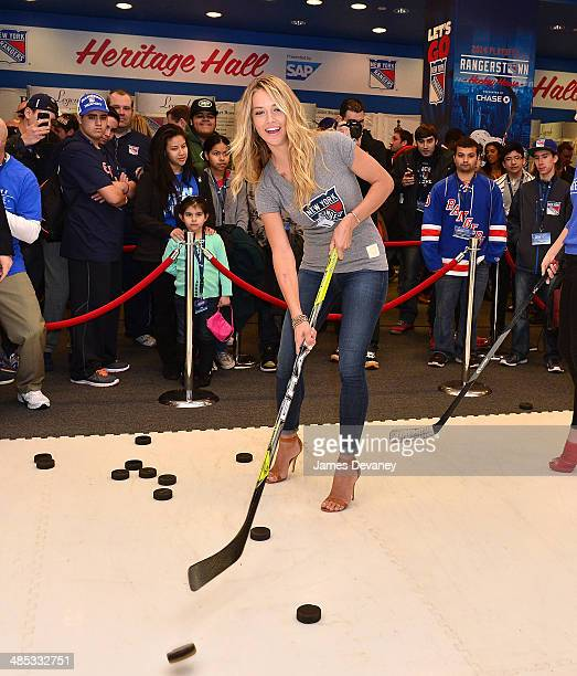 Hannah Ferguson attends the 'Final Shave' Event To Launch The 2014 Rangers BeardAThon at Rangerstown Hockey House on April 17 2014 in New York City