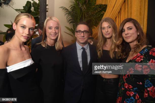 Hannah Ferguson guest President E Entertainment Adam Stotsky Caroline Lowe guest attend the NYFW Kickoff Party A Celebration Of Personal Style hosted...