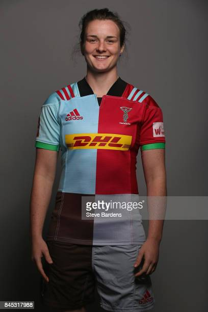 Hannah Field of Harlequins Ladies poses for a portrait during the Harlequins Ladies Squad Photo call for the 2017/18 Tyrrells Premier 15s Season at...