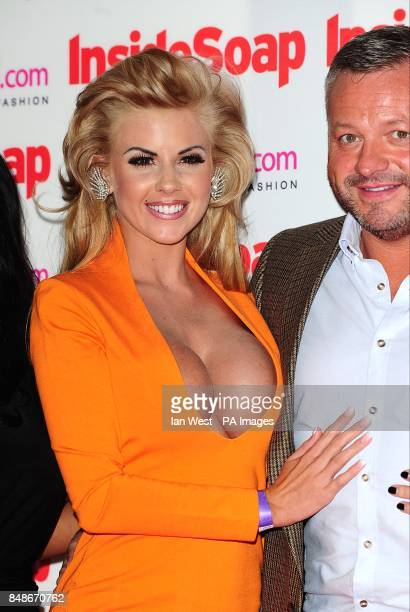 Hannah from the Sugar Hut Honeys and Mick Norcross at the 2012 Inside Soap Awards at One Marylebone London