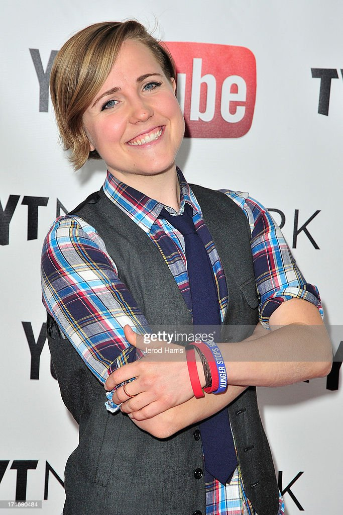 Hannah Hart arrives at YouTube and TYT Network Present the 1st Annual YouTube PRIDE Party Hosted By Dave Rubin at YouTube Space LA on June 27, 2013 in Los Angeles, California.