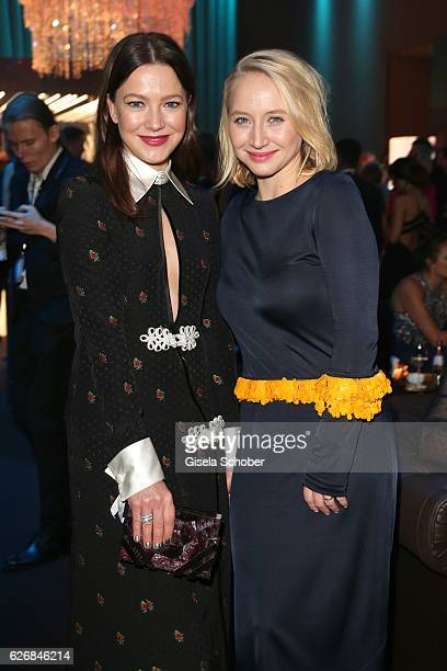 Hannah Herzsprung and Anna Maria Muehe during the Bambi Awards 2016 party at Atrium Tower on November 17 2016 in Berlin Germany