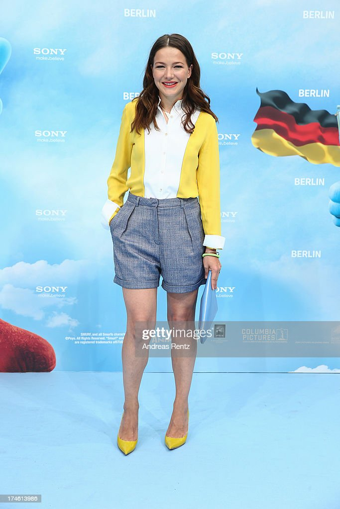 Hannah Herzsprung attends the 'Die Schluempfe 2' Germany Premiere at Sony Centre on July 28, 2013 in Berlin, Germany.
