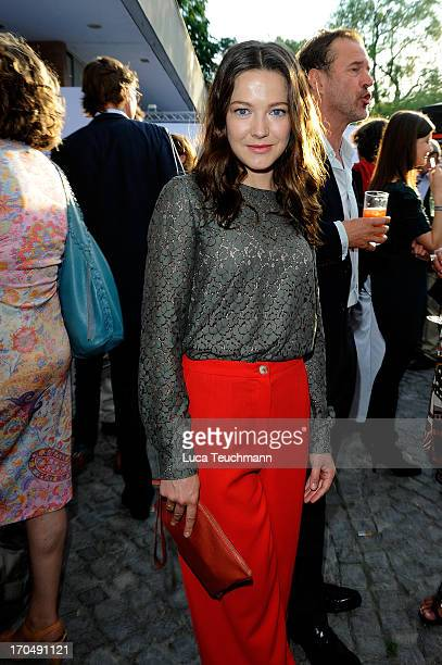 Hannah Herzsprung attends the producer party 2013 of the German producers alliance at Restaurant Auster on June 13 2013 in Berlin Germany