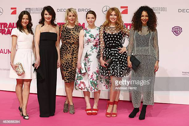Hannah Herzsprung Iris Berben Anika Decker Karoline Herfurth Palina Rojinski and Joy Denalane attend the Traumfrauen premiere at CineStar on February...