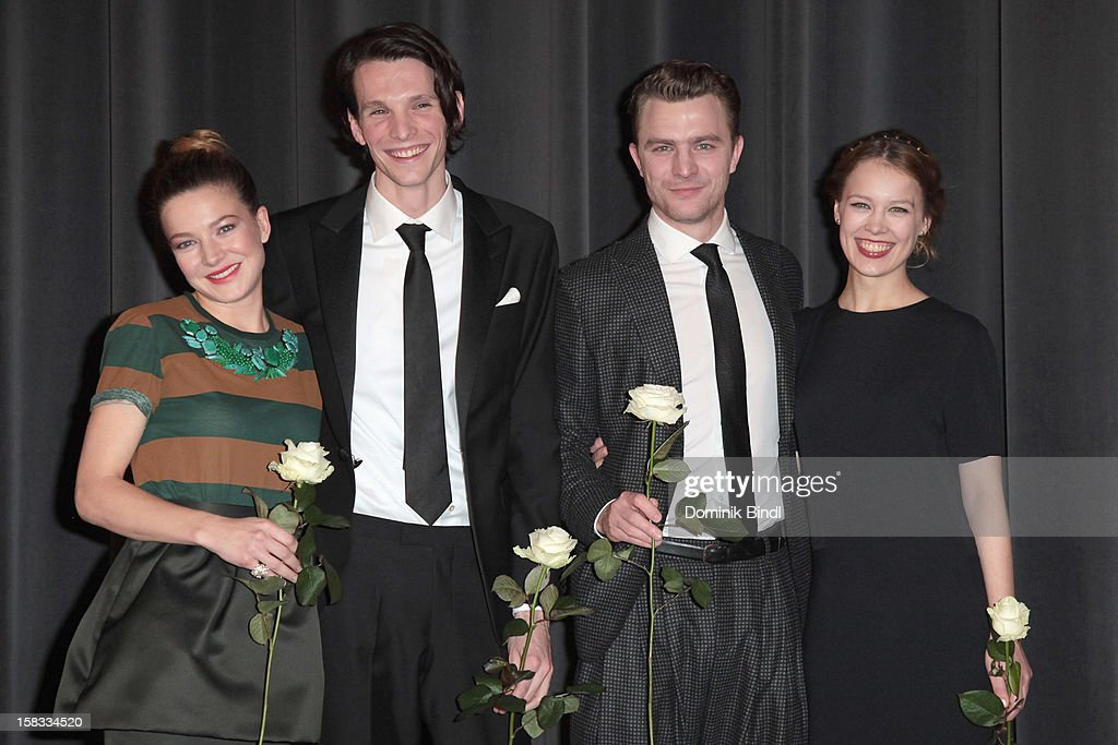 Hannah Herzsprung, Sabin Tambrea, Friedrich Muecke and Paula Beer attend Ludwig II - Germany Premiere at Mathaeser Filmpalast on December 13, 2012 in Munich, Germany.