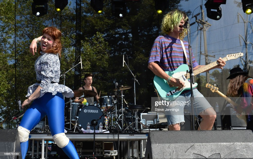 Hannah Hooper and Christian Zucconi of Grouplove perform at Bottle Rock Napa Valley Festival at Napa Valley Expo on May 12, 2013 in Napa, California.