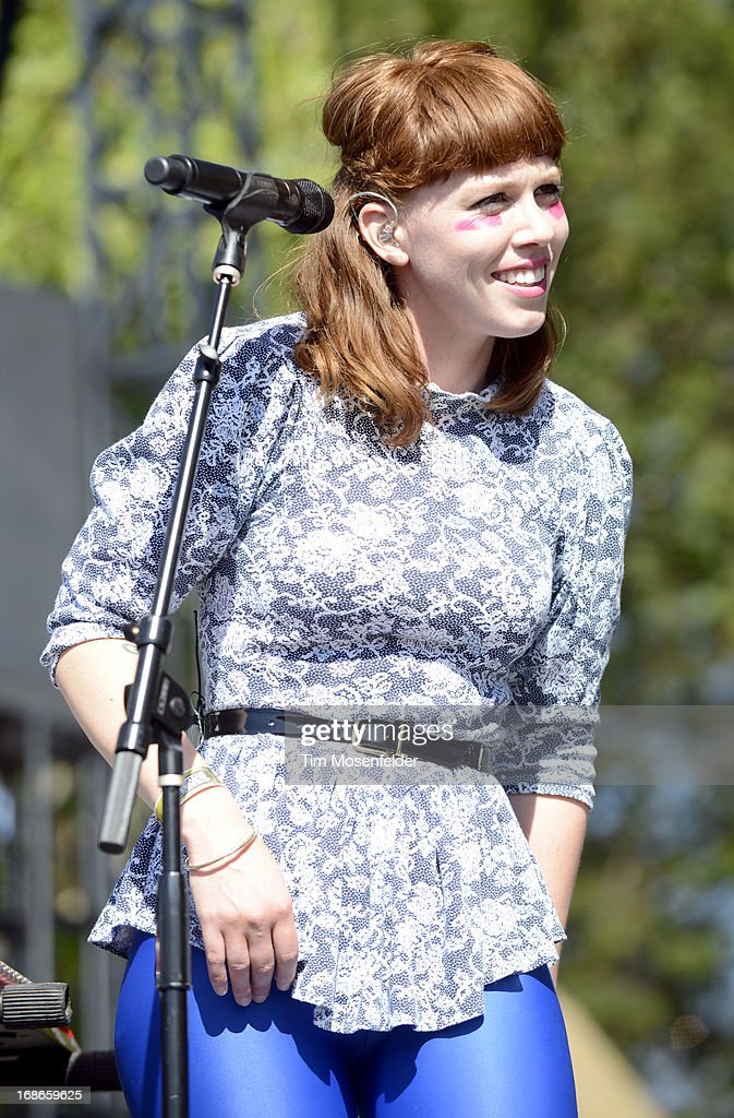 Hannah Hooper of Grouplove performs as part of the Bottle Rock Music Festival at the Napa Expo on May 12, 2013 in Napa, California.