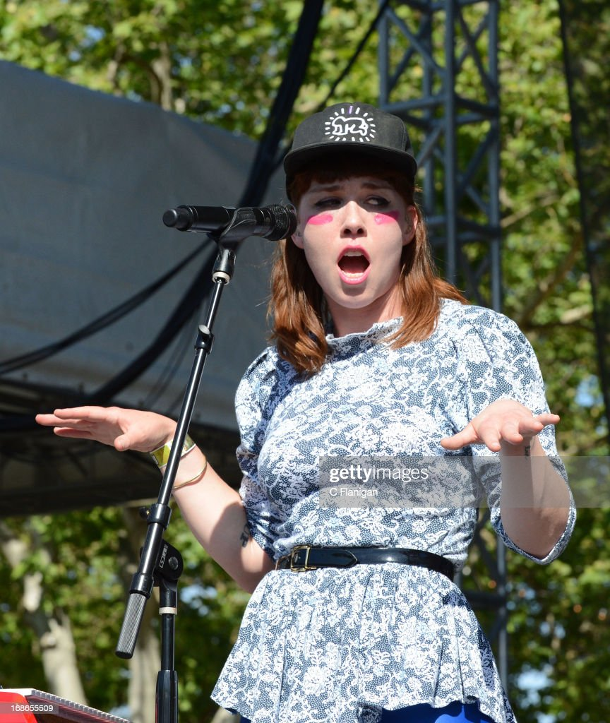 Hannah Hooper of Grouplove performs during the 2103 Bottle Rock Music Festival on May 12, 2013 in Napa, California.