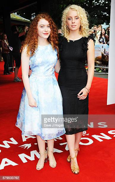 Hannah Jayne Thorp and Seren Hawkes arrive for the World Premiere of 'Swallows and Amazons' at Theatre by the Lake on July 24 2016 in Keswick England