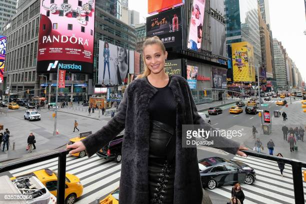 Hannah Jeter visits 'Extra' at their studios at the Hard Rock Cafe in Times Square on February 14 2017 in New York City