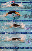 Hannah Kasitgar competes in heat 3 of the women's 200 yard backstroke preliminaries during the USA Swimming 2014 ATT Winter National Championships at...