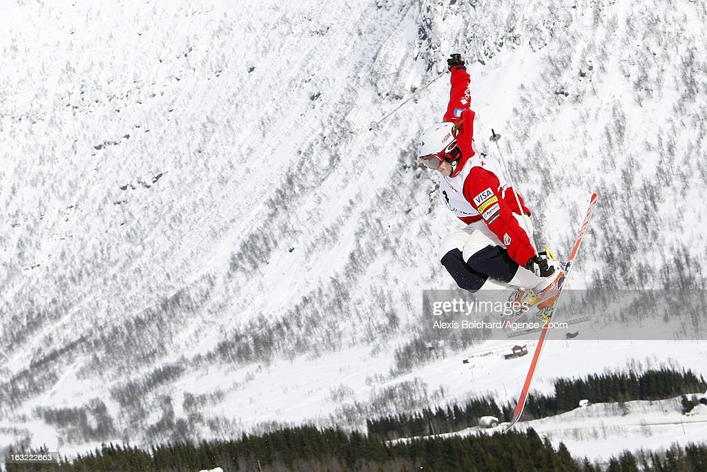 Hannah Kearney of the USA takes 1st place during the FIS Freestyle Ski World Championship Men's and Women's Moguls on March 06, 2013 in Voss, Norway.
