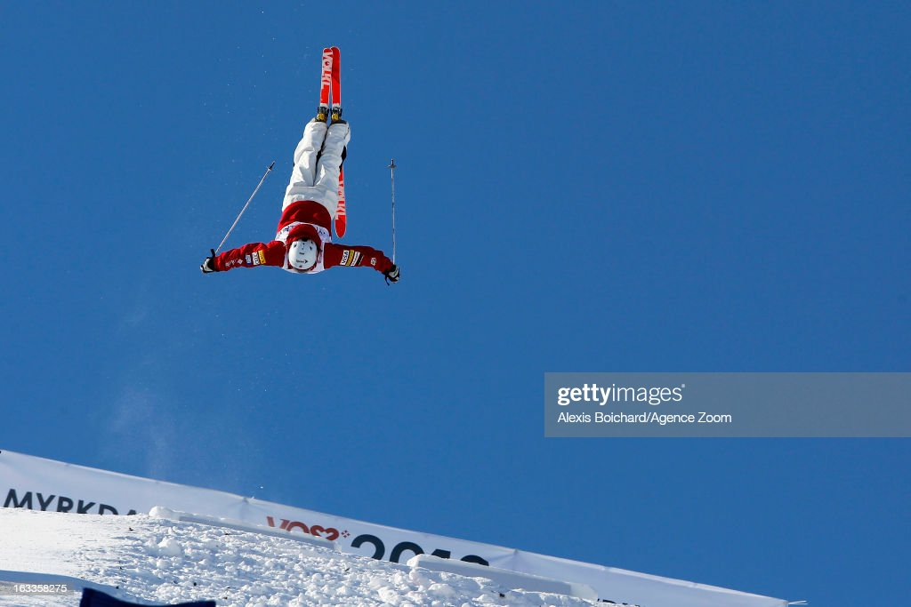 Hannah Kearney of the USA takes 3rd place during the FIS Freestyle Ski World Championship Men's and Women's Dual Moguls on March 08, 2013 in Voss, Norway.