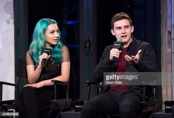 Hannah Marks and Michael Johnston visit Build Series to discuss 'Slash' the movie at AOL HQ on December 8 2016 in New York City