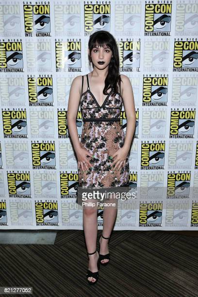 Hannah Marks attends Dirk Gently's Holistic Detective Agency press line at ComicCon International 2017 on July 23 2017 in San Diego California