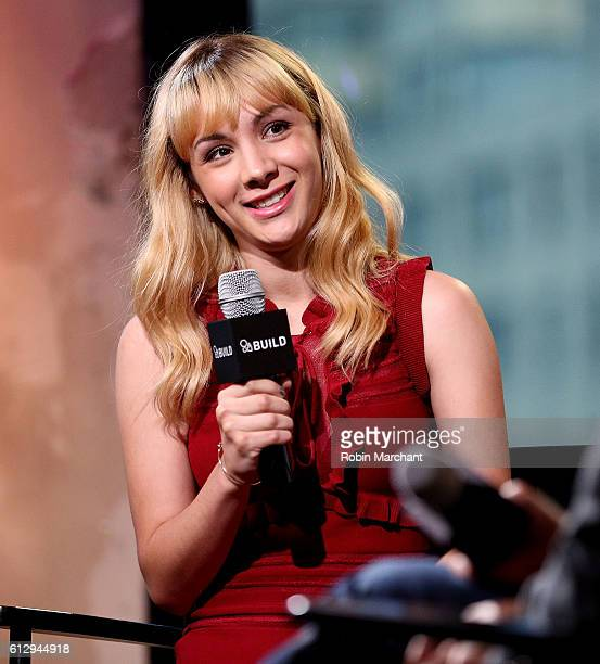 Hannah Marks attends The Build Series Presents Hannah Marks Discussing The Show 'Dirk Gently's Holistic Detective Agency' at AOL HQ on October 6 2016...