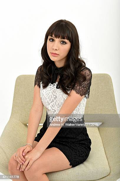 Hannah Marks from 'Anethesia' appears at the 2015 Tribeca Film Festival Getty Images Studio on April 24 2015 in New York City