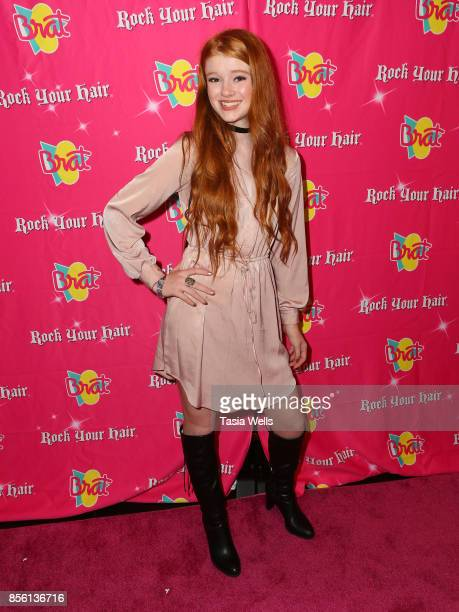 Hannah McCloud at Rock Your Hair Presents Rock Back to School Concert Party on September 30 2017 in Los Angeles California