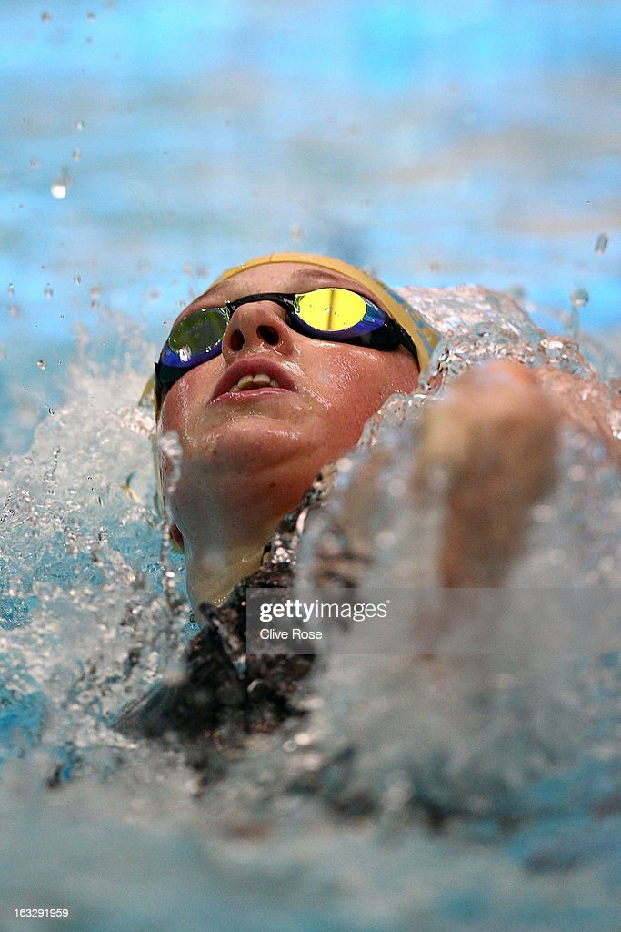 <a gi-track='captionPersonalityLinkClicked' href=/galleries/search?phrase=Hannah+Miley&family=editorial&specificpeople=4333059 ng-click='$event.stopPropagation()'>Hannah Miley</a> competes in the Women's 200m Individual Medley heats on Day One of the 2013 British Gas International Meeting at John Charles Centre for Sport on March 7, 2013 in Leeds, England.