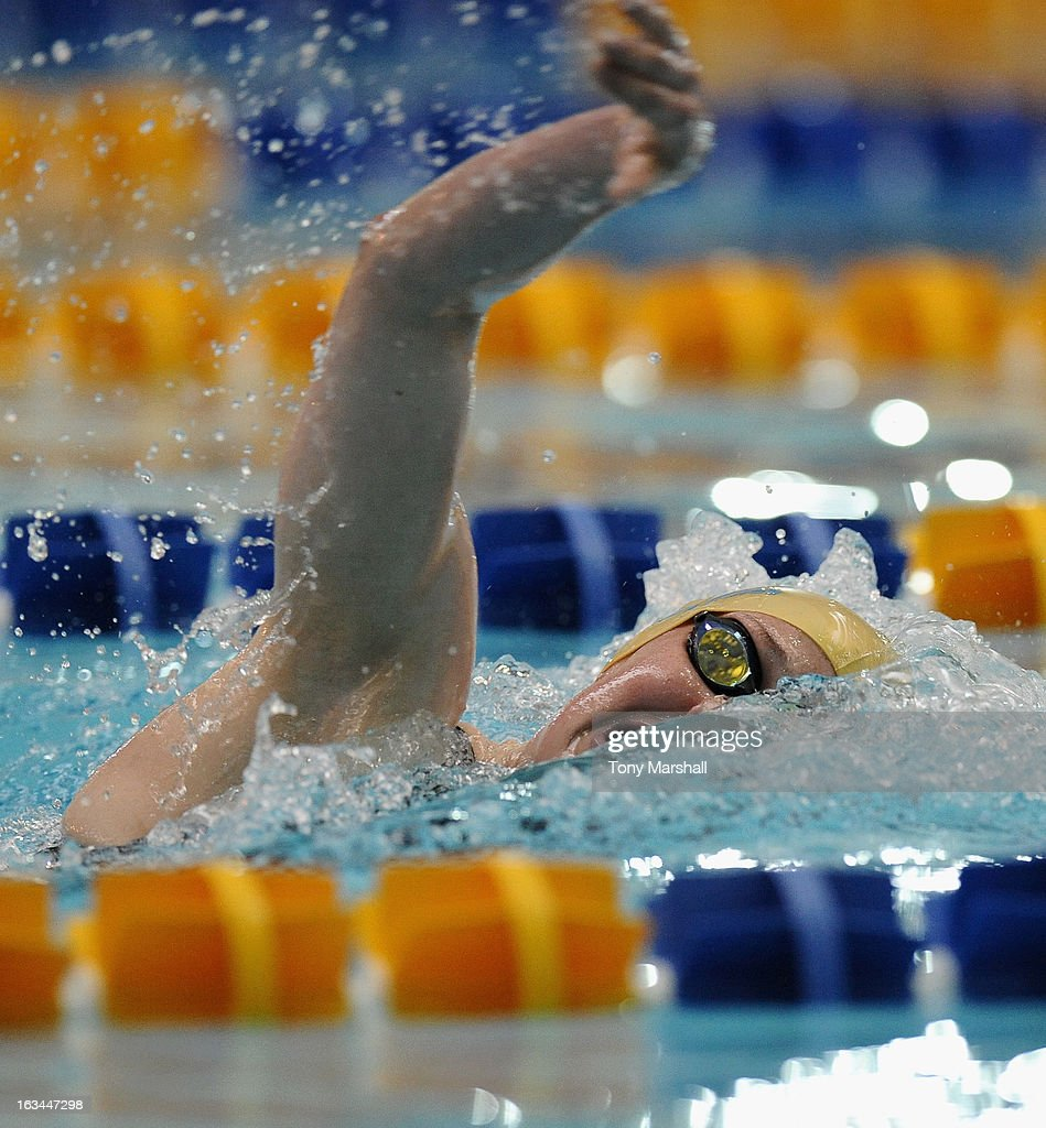 Hannah Miley of Garloch in action in her heat of the Women's Open 400m Freestyle during The British Gas International Swimming Meet at John Charles Centre for Sport on March 10, 2013 in Leeds, England.