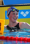 Hannah Miley of Great Britain celebrates winning the Women's 400m Individual Medley Final during the European Swimming Championships at the Hajos...