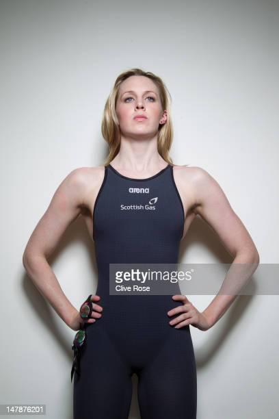 Hannah Miley of the Great Britain Swimming team poses for a portrait during a British Gas photo shoot on March 14 2011 in London England