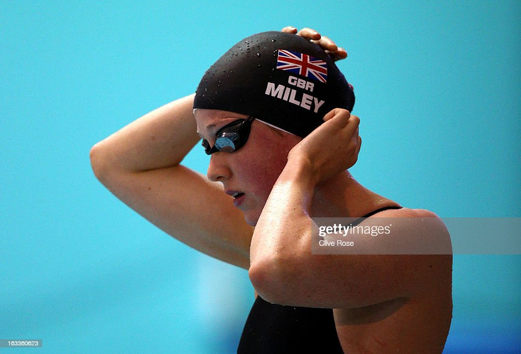 Hannah Miley prepares to compete in the Women's 400m Individual Medley Final on day two of the 2013 British Gas International meeting at John Charles Centre for Sport on March 8, 2013 in Leeds, England.