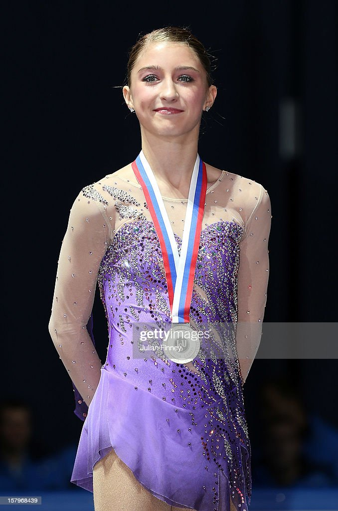 Hannah Miller of USA with her silver medal in the Junior Ladies Free Skating during the Grand Prix of Figure Skating Final 2012 at the Iceberg Skating Palace on December 8, 2012 in Sochi, Russia.