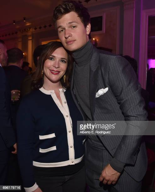 Hannah Minghella President of TriStar Pictures and actor Ansel Elgort attend the after party for the premiere of Sony Pictures' 'Baby Driver' on June...