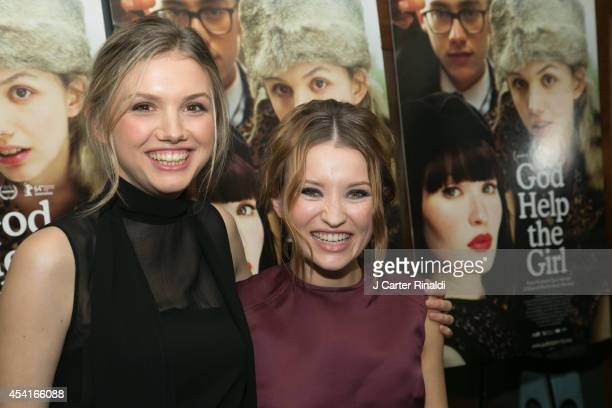 Hannah Murray and Emily Browning attend the 'God Help The Girl' New York Special Screening at Nitehawk Cinema on August 25 2014 in New York City