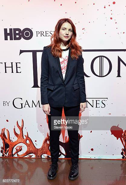 Hannah Murray attends HBO's Art the Throne Immersive Art Experience at The Angel Orensanz Foundation on April 20 2016 in New York City