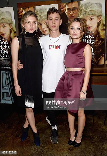 Hannah MurrayOlly Alexander and Emily Browning attend the 'God Help The Girl' New York Special Screening at Nitehawk Cinema on August 25 2014 in New...