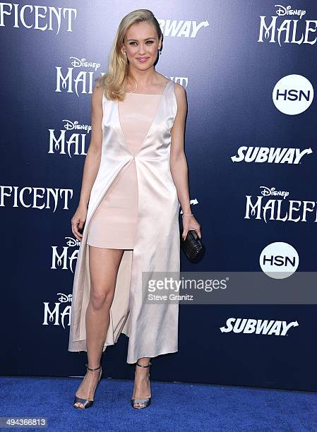 Hannah New arrives at the World Premiere Of Disney's 'Maleficent' at the El Capitan Theatre on May 28 2014 in Hollywood California