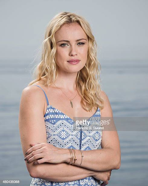 Hannah New poses during a portrait session at Grimaldi Forum on June 10 2014 in Monaco Monaco