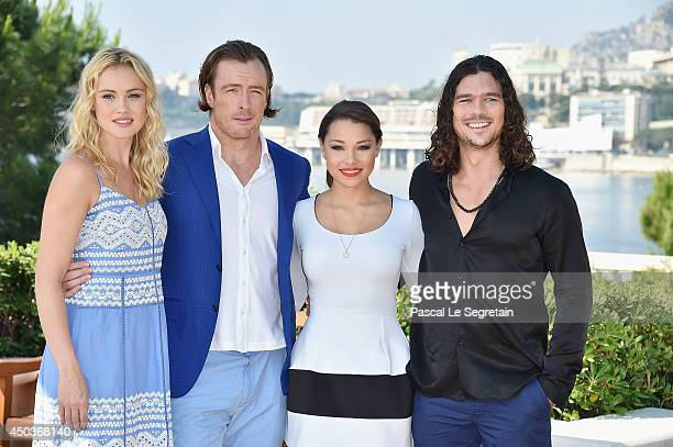 Hannah New Toby Stephens Jessica Parker Kennedy and Luke Arnold attend a photocall for the TV Show ' Black Sails' as part of the 54th MonteCarlo...