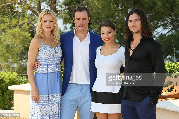 Hannah New Toby Stephens Jessica Parker Kennedy and Luke Arnold attend 'Black Sails' Photocall at the Grimaldi Forum on June 10 2014 in MonteCarlo...
