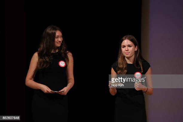 Hannah Oblak Fast Forward Girls Leader Hunter College and Olivia Abrams Fast Forward Girls Leader Lehigh University attend Fast Forward Women's...