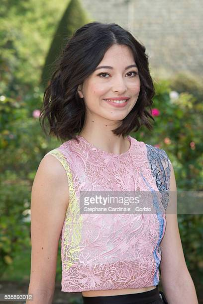 Hannah O'Neill attends the Christian Dior show as part of the Paris Fashion Week Womenswear Spring/Summer 2014 at Musee Rodin in Paris