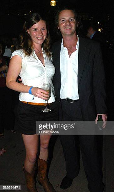 Hannah Rand and Ed Gibbs at the World's Fastest Indian Premiere at the Dendy Opera Quays Circular Quay Sydney 16 March 2006 SHD Picture by JANIE...