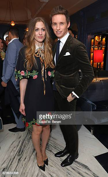 Hannah Redmayne and Eddie Redmayne attend OMEGA Constellation Globemaster dinner at Marcus on December 8 2016 in London England
