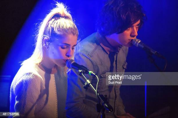 Hannah Reid and Dominic 'Dot' Major of London Grammar perform live on March 29 2014 at Neumos in Seattle Washington